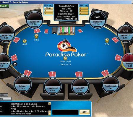 Il Poker online ai tempi di Paradise